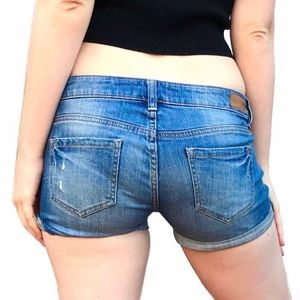 90s Blue denim shorts Garage vintage dolls kill